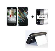 LG Optimus Exceed 2 VS450PP Rugged Hybrid Case +Screen Protector - shooting Star