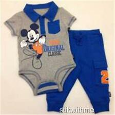 NWT MICKEY MOUSE Disney Cuddly Bodysuit and Pants SET (NEWBORN Up to 7 lbs.)