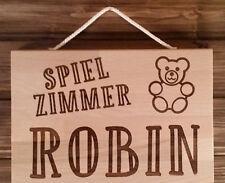 Spielzimmer, Kinderzimmer, Schild, Gravur, Name, Bild, persönliche Wunschgravur