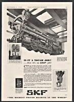 1930 Canadian National Railway Locomotive Montreal Shop SKF Bearings Railroad AD