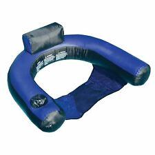 Swimline Vinyl Inflatable U-Seat Chair Pool Float, Blue