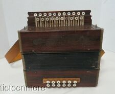 VINTAGE M. HOHNER STEEL REEDS 12 BUTTON 21 KEY ACCORDION GERMANY