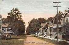 Ocean Park Maine Temple Avenue Looking West Antique Postcard K94036
