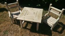 Childrens wooden garden patio set / table and benches