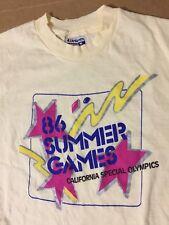 178e92d9ae7 86 Summer Games California Special Olympics shirt deadstock nos hanes vtg  size M