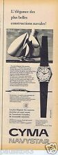 Publicité Advertising 096 1957 Cyma montre navystar