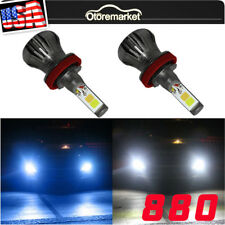 2x 880 899 White+Blue LED Fog Light Driving Bulb DRL Lamp High Power Dual Color