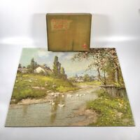 Vintage VICTORY ARTISTIC Gold Box 900pc Wooden Jigsaw Puzzle - 100% COMPLETE