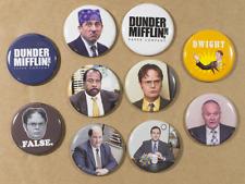 The Office Buttons Pins x10 michael scott dwight schrute dundler mifflin