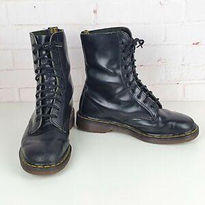 Dr Martens 1490 10 Eye Lace Up Boots Docs Martins US Size Women 10 Men 9 Unisex