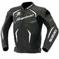 Suzuki Hayabusa Motorcycle Jackets Leather Motorbike Biker Racing Sport Slim Fit