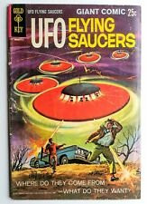 UFO FLYING SAUCERS comic book #1 Vintage GOLD KEY 1968 Silver Age UFOs Aliens