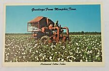 Vintage Postcard Mechanical Cotton Picker in Field from Memphis Tennessee
