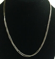"""Double Sterling Silver Snake & Bead Chain / Necklace 17"""" - 7g Italy"""