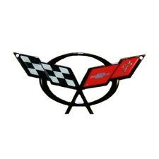 "C5 Corvette Crossed Flag Metal Magnet Emblem Art 6"" x 2 3/4"" 97-04 PhotoSteel"