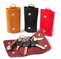 New Cool Wallet Holder PU Leather Pouch Bag Key Chain Accessory Key Case