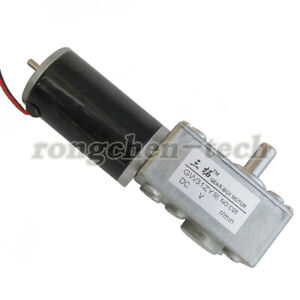 DC12V 24V 14-160RPM GW31ZY Worm Gear Motor Tail Shaft with Gearbox for DIY Robot