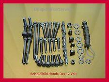 Honda Dax / Monkey 12 Volt Schraubensatz V2A Schrauben Edelstahlschrauben Motor