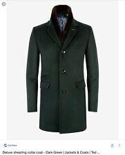 Men's Ted Baker £1200 'Hamzted' Shearling Collar Coat Size 6 XXL 2XL
