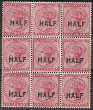 NATAL 1895 QV HALF OF 1D MNH ** BLOCK