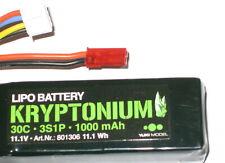 Yuki Model 801306 KRYPTONIUM Lipo 3s1p 11.1v 1000mah 30c Komp.m.xt60 Plug