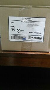 NEW APPLETON ELECTRIC CESD-3023 CESD 30 AMP RECEPTACLE