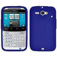 AMZER Silicone Skin Jelly Case Cover For HTC ChaCha /Status - Blue