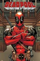 DEADPOOL ~ ARMS FOLDED ~ 24x36 COMIC ART POSTER Marvel NEW/ROLLED! INTENSE