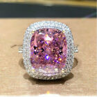 Luxury Cubic Zirconia 925 Silver Rings For Women Party Jewelry Gifts Size 6-10
