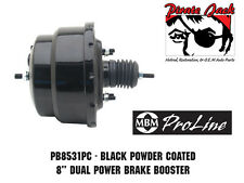 "8"" Dual Universal Power Brake Booster with Black Powder Coated Finish"