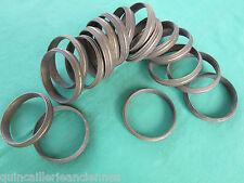 17 anneaux laiton massif ancien tringle rideau diamètre intérieur 5,7 cm