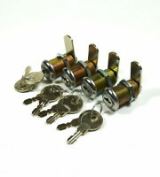 "LOT OF 4 1-1/8"" PINBALL MACHINE ARCADE GAME LOCK SUZO HAPP  KEYED ALIKE 1 1/8"""