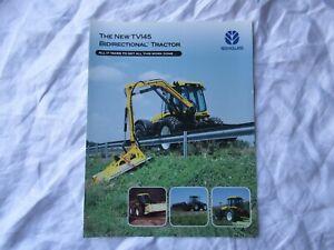 New Holland TV145 bidirectional tractor brochure