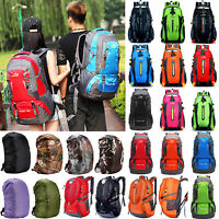 Unisex Waterproof Rucksack Hiking Backpack Outdoor Camping School Packs Bags US