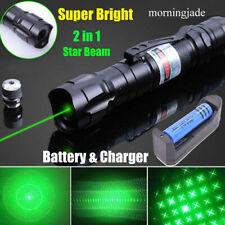 900Miles Long Range Green Laser Pointer Pen Star+Single Lazer w/ Battery&Charger