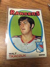 TOPPS HOCKEY 1971-72 WALT TKACZUK CARD 75 NEW YORK RANGERS VERY GOOD