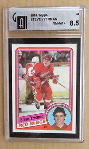Red Wings Steve Yzerman 1984-85 Topps # 49 Rookie Card - GAI 8.5 NR-MT+ !