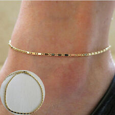 Chic Simple Fish bone Gold Link Anklet Foot Body Chain Bracelet Goth Punk UK