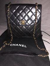 Chanel Black Vintage Lambskin Classic Crossbody Flap Bag