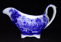 Ridgway Oriental England Flow Blue Gravy Boat Bowl Early 1800 Antique Ridgways