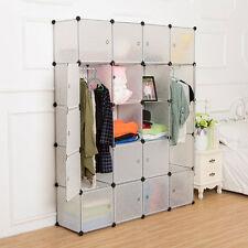 20 Modular DIY Cube Storage Clothes Shoes Closet Organizer Shelf Wardrobe