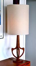 Mid Century Eames Teak Danish 'HVITLEK' Table Lamp with new bespoke shade
