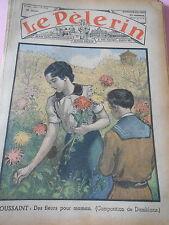 Toussaint des fleurs pour Maman dessin Print 1936
