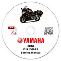 Yamaha FJR1300AS 2013 Service Workshop Manual CD