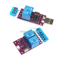 DC 5V 1/2 Channel Delay Realy USB Intelligent Switch MCU CH340 Microcontroller