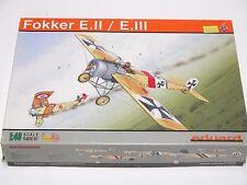 1/48 EDUARD FOKKER E.II E.III Plastic Scale Model Kit Monogram Tamiya Roden