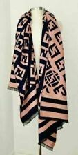 Designer Inspired FF GG Pashmina Cashmere Knit Cape Wrap Scarf pink