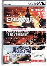 LOTE: ENDWAR, BROTHERS IN ARMS HH Y BLAZINGS ANGEL 2 en español