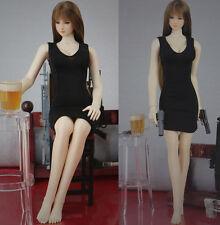 "Black Sexy Women Lady Skirt Dress Package Hip Vest 1/6 Clothes F 12"" Figure"