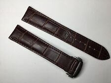 18MM BROWN LEATHER STRAP BAND FOR OMEGA SPEEDMASTER SEAMASTER PLANET OCEAN